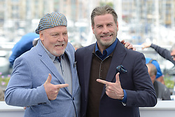 Stacy Keach and John Travolta attending the Rendez-vous with John Travolta - Gotti Photocall held at the Palais des Festivals as part of the 71th annual Cannes Film Festival on May 15, 2018 in Cannes, France. Photo by Aurore Marechal/ABACAPRESS.COM