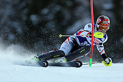 06.01.2014, Stelvio, Bormio, ITA, FIS Weltcup Ski Alpin, Bormio, Slalom, Herren, im Bild Manuel Feller // Manuel Feller  in action during mens Slalom of the Bormio FIS Ski World Cup at the Stelvio in Bormio, Italy on 2014/01/06. EXPA Pictures © 2014, PhotoCredit: EXPA/ Sammy Minkoff<br /> <br /> *****ATTENTION - OUT of GER*****
