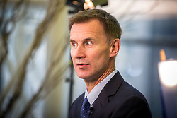 © Licensed to London News Pictures. 02/10/2018. Birmingham, UK. Jeremy Hunt  today at the Conservative party conference today being held at the International Convention Centre in Birmingham. Photo credit: Andrew McCaren/LNP