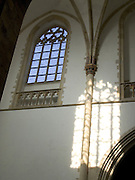 church window and shadow St Bavo Haarlem Holland