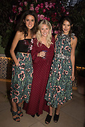 ROSANNA FALCONNER; EMMA HARDING,  SARAH-ANN MACKLIN, spotted at Bloom & Wild's exclusive event at 5 Hertford Street last night. 5 September 2017. The event was announcing the new partnership between the UK's most loved florist, Bloom & Wild and British floral design icon Nikki Tibbles Wild at Heart. Cocooned in swaths of vibrant Autumn blooms, guests enjoyed floral-inspired cocktails from Sipsmith and bubbles from Chandon, with canapés put on by 5 Hertford Street. Three limited edition bouquets from the partnership can be bought through Bloom & Wild's website from the 1st September.  bloomandwild.com/WAH