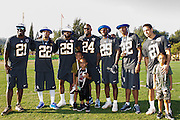 January 30 2016: Team Rice players pose for a photo after the final Pro Bowl practice at Turtle Bay Resort on Oahu, HI. (Photo by Aric Becker/Icon Sportswire)