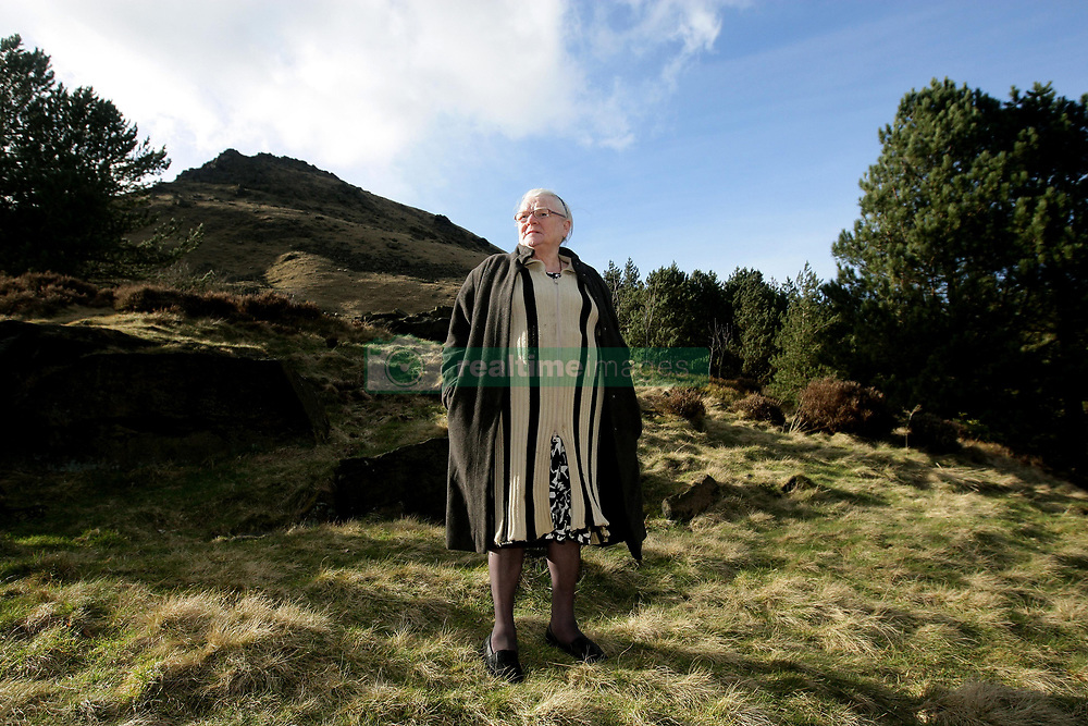 Winnie Johnson, mother of Keith Bennett, on Saddleworth Moor, Saddleworth, as a privately funded search has begun for the body of the 12-year-old boy killed by Moors Murderers Ian Brady and Myra Hindley.