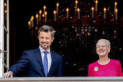 Crown Prince Frederik and Queen Margrethe celebrate 50th birthday of Crown Prince Frederik at the royal palace in Copenhagen, Denmark, on May 26, 2018. Photo by Robin Utrecht/ABACAPRESS.COM