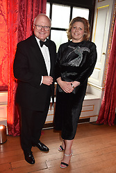 Chairman of the Tusk board Stephen Watson and his wife Emma Watson at the Tusk Ball at Kensington Palace, London, England. 09 May 2019.