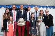 Henley. Great Britain.   Molesey Eights 40+ and 50+ 175th  Henley Royal Regatta, Henley Reach. England. 16:49:11  Sunday  06/07/2014. [Mandatory Credit; Intersport-images] <br /> <br /> Crews 40's Bow, Dan RITCHIE, James WRIGHT, Jonny SEARLE, Guy POOLEY, Alex Partridge, Mike BLOMQUIST, Simon FIELDHOUSE, Dave GILLARD, Neil CHUGANI,<br /> <br /> 50's Richard STANHOPE, Martin CROSS, Malcolm MCGOWAN, Joe MICHELS, Jean CHRISTOPHE-ROLLAND, Matt PINSENT, Ian MCNUFF, Diederik SIMON cox Gary HERBERT