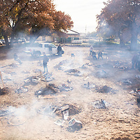 Over 30 turkeys were cooked in the ground during the annual turkey-in-the-hole celebration at To'hajiilee Community School, Tuesday, Nov. 20, in To'hajiilee.
