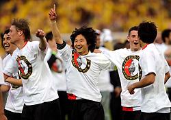 27-04-2008 VOETBAL: KNVB BEKERFINALE FEYENOORD - RODA JC: ROTTERDAM <br /> Feyenoord wint de KNVB beker - Chunsoo Lee<br /> ©2008-WWW.FOTOHOOGENDOORN.NL