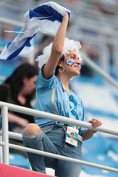 July 6, 2018 - Nizhny Novgorod, U.S. - NIZHNY NOVGOROD, RUSSIA - JULY 06: Fan of Uruguay during the Quarter-Final match between Uruguay and France in the 2018 FIFA World Cup on July 6, 2018, at Nizhny Novgorod Stadium in Nizhny Novgorod, Russia. (Photo by Anatoliy Medved/Icon Sportswire) (Credit Image: © Anatoliy Medved/Icon SMI via ZUMA Press)