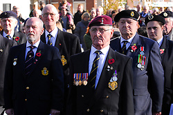 © Licensed to London News Pictures. 11/11/2012.Remembrance day service at Orpington war memorial Orpington High Street,Kent, South East London border. War veterans..Photo credit : Grant Falvey/LNP