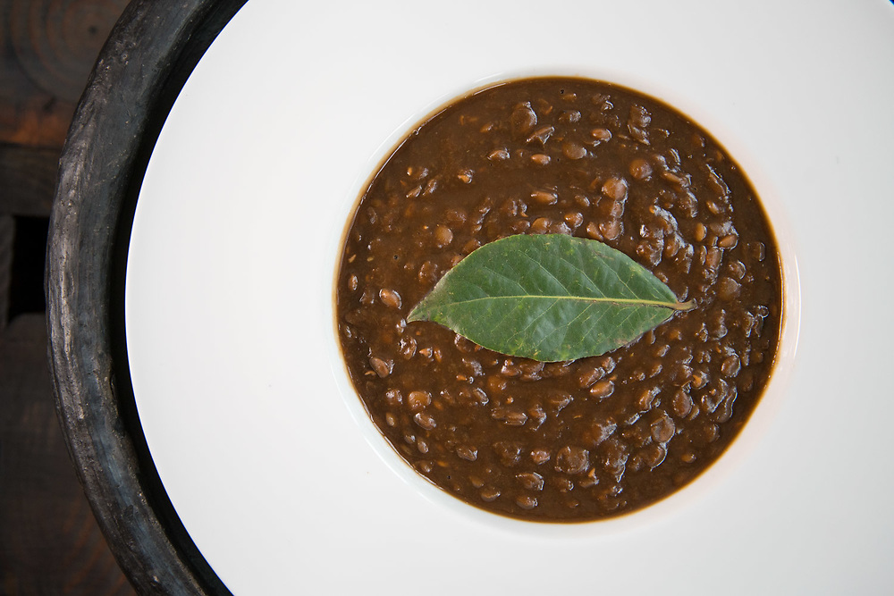 NEW YORK, NY - JANUARY 27, 2018: Lentil stew with bay leaf at Serengeti Kitchen in Harlem. CREDIT: Emon Hassan for The New York Times