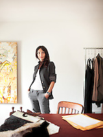 Bela Shehu is the creative director and founder of SHEHU, a fashion design and branding agency located in Philadelphia. She was photographed in her South Philadelphia home.