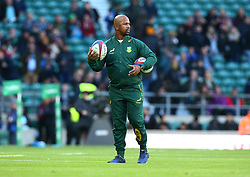 November 3, 2018 - London, England, United Kingdom - London, UK, 03 November, 2018.Mzwandile Stick Assistant Coach of South Africa.during Quilter International between England  and South Africa at Twickenham stadium , London, England on 03 Nov 2018. (Credit Image: © Action Foto Sport/NurPhoto via ZUMA Press)