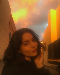 """Vanessa Hudgens releases a photo on Instagram with the following caption: """"This sunset tho. Happy Saturday y\u2019all"""". Photo Credit: Instagram *** No USA Distribution *** For Editorial Use Only *** Not to be Published in Books or Photo Books ***  Please note: Fees charged by the agency are for the agency's services only, and do not, nor are they intended to, convey to the user any ownership of Copyright or License in the material. The agency does not claim any ownership including but not limited to Copyright or License in the attached material. By publishing this material you expressly agree to indemnify and to hold the agency and its directors, shareholders and employees harmless from any loss, claims, damages, demands, expenses (including legal fees), or any causes of action or allegation against the agency arising out of or connected in any way with publication of the material."""