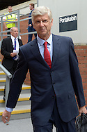 Arsene Wenger, the Arsenal manager arrives at Selhurst Park before k/o. Barclays Premier league match, Crystal Palace v Arsenal at  Selhurst Park in London on Sunday 16th August 2015.<br /> pic by John Patrick Fletcher, Andrew Orchard sports photography.