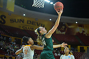 March 18, 2016; Tempe, Ariz;  Green Bay Phoenix guard Allie LeClaire (24) drives past Tennessee Lady Volunteers guard Diamond DeShields (11) for a layup during a game between No. 7 Tennessee Lady Volunteers and No. 10 Green Bay Phoenix in the first round of the 2016 NCAA Division I Women's Basketball Championship in Tempe, Ariz.