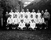 The Ireland rugby team who played South Africa in Lansdowne Road: Tom Kiernan (Capt.), ATA Duggan, Barry Bresnihan, Mike Gibson, WJ Brown, Barry McGann, RM Young, Syd Millar, Ken Kennedy, P O'Callaghan, Eric Campbell, Willie John McBride, Ronnie Lamont, K G Goodall, Fergus Slattery. The Game ended in an 8-8 draw. <br /> 10/01/1970
