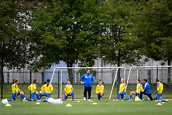 Team of Pomurje warming up before football match between ZNK Pomurje and ZNK Olimpija in 21st Round of Slovenska zenska nogometna liga 2020/21, on 22 of May, 2021 in TSC Trate, Gornja Radgona, Slovenia. Photo by Blaž Weindorfer / Sportida