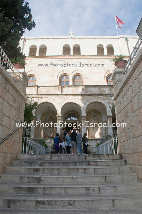 Israel, Jerusalem Old City, Entrance to the Austrian Hospice of the Holy Family