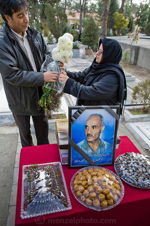 Widow of Iraq War veteran at memorial for her husband.