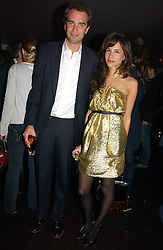 FRITZ VON WESTENHOLZ and CAROLINE SIEBER at a party to celebrate the opening of Kitts nightclub, 7-12 Sloane Square, London on 7th December 2006.<br />