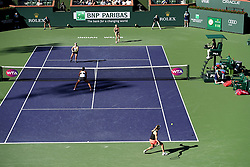 March 16, 2019 - Palm Desert, California, Usa - Tennis : BNP Paribas Open 2019 - Elise Mertens - Belgique - Aryna Sabalenka - Bielorussie gagnent le titre du double dames (Credit Image: © Panoramic via ZUMA Press)