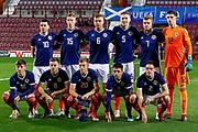 Scotland team ahead of the U21 UEFA EUROPEAN CHAMPIONSHIPS match Scotland vs England at Tynecastle Stadium, Edinburgh, Scotland, Tuesday 16 October 2018.