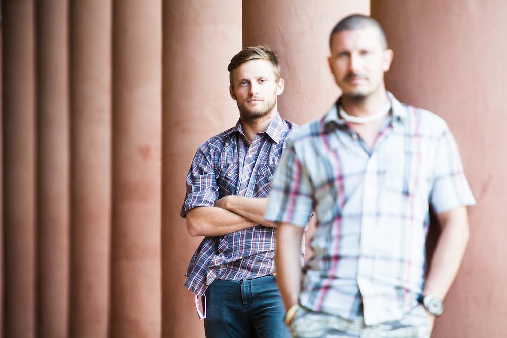 """30 JUL 2010 - Bologna - Giovanni Consonni e Marco Bellone, registi del film """"Ameriqua"""""""
