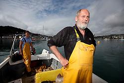UK ENGLAND DEVON TEIGNMOUTH 10SEP16 - Fishermen Trevor Hall (50) of Teignmouth on his boat at Teignmouth harbour, Devon, England.<br /> <br /> jre/Photo by Jiri Rezac<br /> <br /> © Jiri Rezac 2016