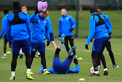 Everton's Sandro Ramirez (centre left) and Kevin Mirallas (centre right) during the training session at Finch Farm, Liverpool. PRESS ASSOCIATION Photo. Picture date: Wednesday November 22, 2017. See PA story SOCCER Everton. Photo credit should read: Peter Byrne/PA Wireduring the training session at Finch Farm, Liverpool. PRESS ASSOCIATION Photo. Picture date: Wednesday November 22, 2017. See PA story SOCCER Everton. Photo credit should read: Peter Byrne/PA Wire