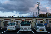 Temporary housing units on the outskirts of Miharu, Tamura District of Fukushima, Japan, Wednesday May 1st 2013. Many people were moved into temporary housing after the earthquake and tsunami of march 11th 2011 left people homeless due to their houses being flattened in the tsunami or contaminated by radiation from the accident at Fukushima Daichi nuclear power station.