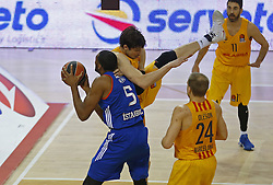 January 19, 2017 - Barcelona, Catalonia, Spain - Derrick Brown and Ante Tomic during the match between FC Barcelona and Anadolu Efes, corresponding to the week 17 of the Euroleague, on 19 January  2017. (Credit Image: © Joanvalls/NurPhoto via ZUMA Press)