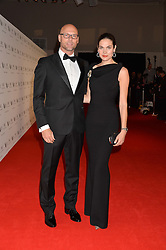 EDWIN DE VRIES and ANNA DRIJVER at the IWC Schaffhausen Gala Dinner in honour of the British Film Institute held at the Battersea Evolution, Battersea Park, London on 7th October 2014.