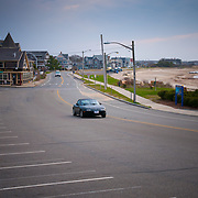 Empty beach of Falmouth Heights in Falmouth, Cape Cod, MA