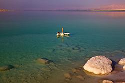 Dead Sea & Marker In Water