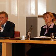 Afscheid raadlseden gemeente Huizen, Jan Rebel en Johanna Visser - Rebel