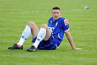 Fotball<br /> England<br /> Foto: Fotosports/Digitalsport<br /> NORWAY ONLY<br /> <br /> St Andrews Birmingham City v Preston North End  (1-2) Championship 25/04/2009<br /> Dejection for Franck  Queudrue (Bham)  as Blues fail to clinch promotion