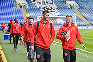 Fleetwood Town Players arrive at Fratton Park during the EFL Sky Bet League 1 match between Portsmouth and Fleetwood Town at Fratton Park, Portsmouth, England on 16 September 2017. Photo by Adam Rivers.