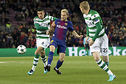 December 5, 2017 - Barcelona, Catalonia, Spain - Ivan Rakitic during the UEFA Champions League match between FC Barcelona and Sporting CP Lisboa at the Camp Nou Stadium in Barcelona, Catalonia, Spain on December 5,2017  (Credit Image: © Miquel Llop/NurPhoto via ZUMA Press)
