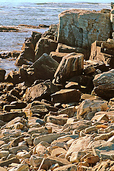 rocky coast Maine Beach rocks and stones formed by surf Maine rocky coast