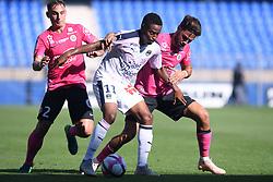 October 21, 2018 - Montpellier, France - 02 RUBEN AGUILAR (MHSC) - 11 FRANCOIS KAMANO (BOR) - 05 PEDRO MENDES  (Credit Image: © Panoramic via ZUMA Press)
