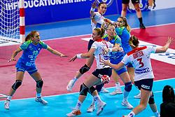02-12-2019 JAP: Slovenia - Norway, Kumamoto<br /> Second day 24th IHF Womenís Handball World Championship, Slovenia lost the second match against Norway with 20 - 36. / Polona Baric #13 of Slovenia, Teja Ferfolja #15 of Slovenia