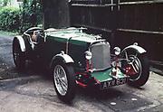 Classic Aston Martin 'Le Mans' tourer motor car 1930s vehicle photographed c 1960