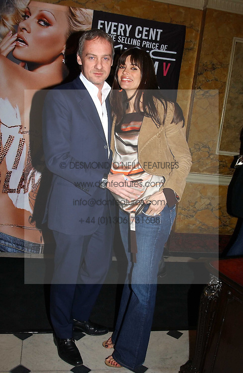 LISA B and ANTON BILTON at a party to celebrate Pamela Anderson's new role as spokesperson and newest face of the MAC Aids Fund's Viva Glam V Campaign held at Home House, Portman Square, London on 21st April 2005.<br /><br />NON EXCLUSIVE - WORLD RIGHTS