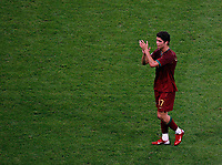 Photo: Glyn Thomas.<br />Portugal v France. Semi Final, FIFA World Cup 2006. 05/07/2006.<br /> Cristiano Ronaldo applauds the Portugese fans.