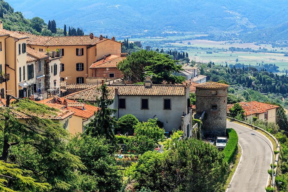 The tower in Cortona, Italy.