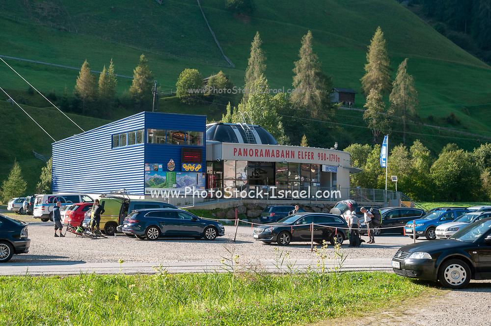 Lower cable car station, Elfer, Neustift im Stubaital, Tyrol, Austria