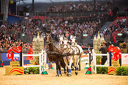 Timmerman Theo, NED, Conversano Congo, Conversano XXIV, Conte, Fillip Spudalshoej<br /> FEI World Cup Driving Leg presented by Dodson & Horrell<br /> Olympia Horse Show -London 2016<br /> © Hippo Foto - Jon Stroud<br /> 16/12/16