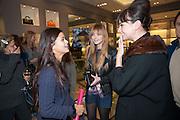 BIP LING; LAURA HAYDEN; GIZZI ERSKINE, Smythson Sloane St. Store opening. London. 6 February 2012.