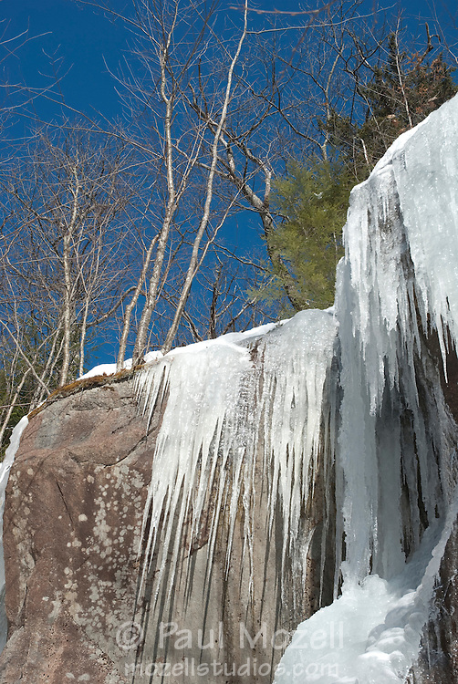 Icycles near the Swift River, White Mountain National Forest, New Hampshire